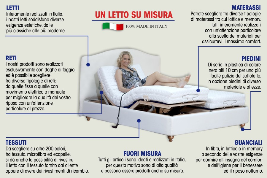 Un letto su misura giorno notte materassi letti poltrone - Reti letto su misura ...